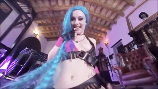 League of Legends Jinx Cosplay POV Suck & Fuck from Behind