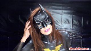 Batgirl Sucks Huge Cock And Fingerfucks Guy In The Ass