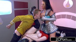Star Trek Starfleet Officer Cosplay Girls Getting Fucked In a Threesome