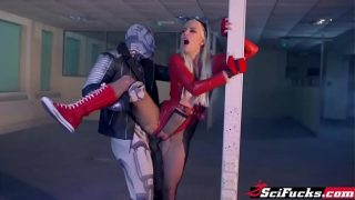 Female Flash Cosplayer Gets Rough Fuck In XXX Parody