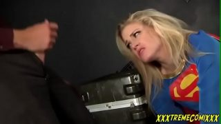 Supergirl Cosplayer Gets Captured And Is Made To Take Cock In Mouth And Pussy