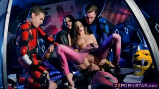Female Power Rangers Cosplayers Fucked In an Orgy