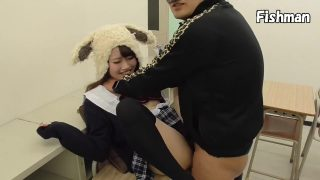Adorable Japanese Bunny Cosplay Girl Taking Two Cocks In Mouth And Pussy