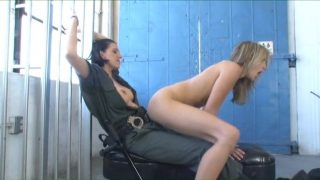 Lesbian Police Cosplayer Fucking Prisoner In The Ass With a Strapon