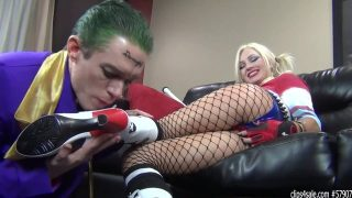 Harley Quinn Cosplayer Dominating And Fucking Joker With a Strap-On