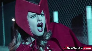 Gorgeous Scarlet Witch Cosplayers enjoys Steve's big fat dick