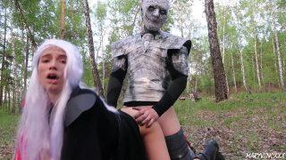 Daenerys Targaryen Cosplayer Fucks The Night King Until Arya Ruins Their Fun