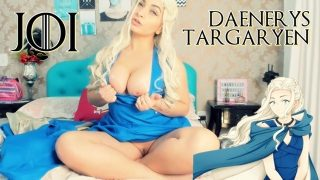 Daenerys Targaryen from Game of Thrones Gives JOI