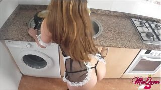Latino Maid Cosplayer Loves Anal