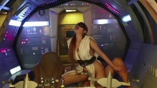 Masked Rey Cosplayer gets Fucked By Kylo Ren In the Millennium Falcon