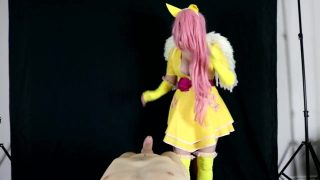 Fluttershy Cosplayer from My Little Pony Gets Creampied in POV