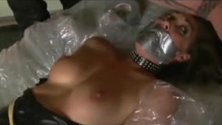 MILF Cosplaying Catwoman Tied Up and Scared By Masked Villain