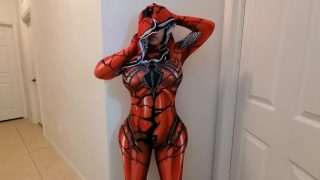 Spider Girl Cosplayer With Huge Ass Fucks and Jerks Off Guy Until He Cums Over and Over