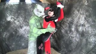 Harley Quinn Cosplayer Getting Tied Up And Punished By The Swamp Thing