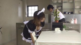 Cute Japanese Maid Cosplayer Takes A Break from Work To Suck Cock