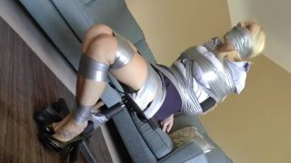 Police woman cosplayer duct taped and helpless