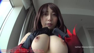 Sexy JAV cosplaying The Black Grail from Fate Grand Order loves getting fucked by hard cock