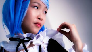 Gorgeous Chinese maid cosplayer sucks master's son's cock to help him study