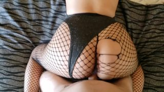 Sexy Playboy bunny cosplayer gets fucked in ripped fishnets