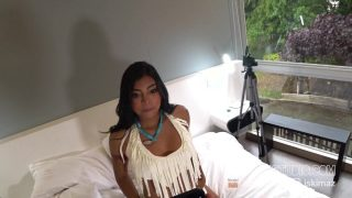 Pocahontas cosplayer riding cock hard