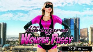 Wonder Pussy cosplayer sucks the evil out of villain's cock