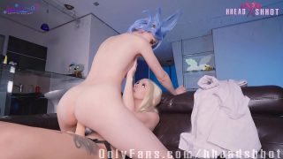 Female Rick from Rick and Morty cosplayer has lesbian fuck session with Alicebong
