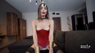 Wonder Woman gets fucked hard and begs for creamy facial