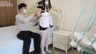 Asian maid cosplayer is dominated with bondage and tortured