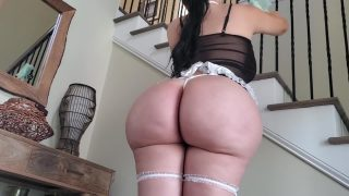 Latina maid cosplayer with huge ass fucks her boss