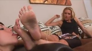Sexy maid cosplayer worships her mistress's feet