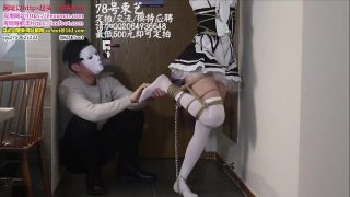 Chinese Rem cosplayer is tied up and tickled