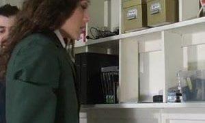 Schoolgirl cosplayer gets caned by teacher
