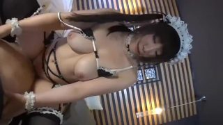 Sexy maid cosplayer rides cock from your POV