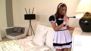 Maid cosplayer gets fucked by her big dick boss