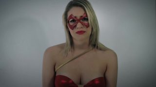 Superhero cosplayer gets overpowered, tied up and fucked