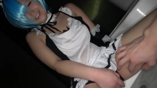 Rem cosplayer sucks dick in a hot tub and gets fucked