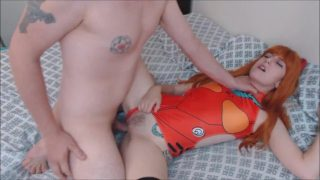 Asuka Langley cosplayer gets fucked and creampied