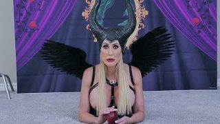Big tits Maleficent cosplayer getting fucked hard
