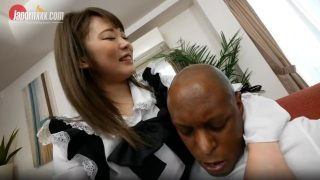 Japanese maid cosplayer gets fucked by her BBC boss