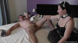 Maid cosplayer makes her husband cum twice