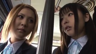 Asian schoolgirl cosplayers getting fucked on public transport