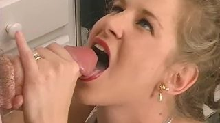 Maid cosplayer sucking cock like a pro