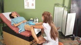 Nurse cosplayer prescribes her patient multiple orgasms