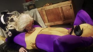 Black Cat cosplayer sucking off and fucking Batroc the Leaper